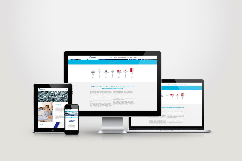 Signature Website Responsive Screen