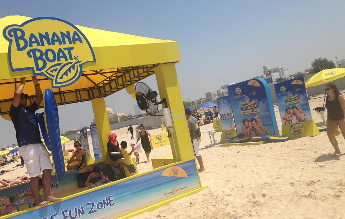 Banana Boat Beach Activation